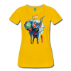 Image of Elephant x Crown Women's T-shirt - sun yellow