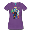 Image of Elephant x Crown Women's T-shirt - purple