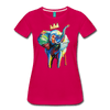 Image of Elephant x Crown Women's T-shirt - dark pink