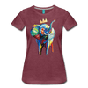 Image of Elephant x Crown Women's T-shirt - heather burgundy