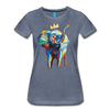 Image of Elephant x Crown Women's T-shirt - heather blue