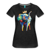 Image of Elephant x Crown Women's T-shirt - charcoal gray