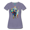 Image of Elephant x Crown Women's T-shirt - washed violet