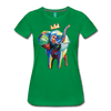 Image of Elephant x Crown Women's T-shirt - kelly green