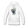 Image of Women's Elephant x Crown Hoodie - white