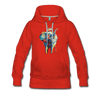 Image of Women's Elephant x Crown Hoodie - red
