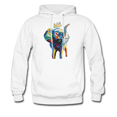 Men's Elephant x Crown Hoodie - white
