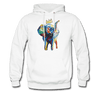 Image of Men's Elephant x Crown Hoodie - white