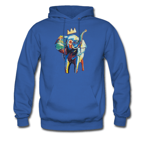 Men's Elephant x Crown Hoodie - royal blue