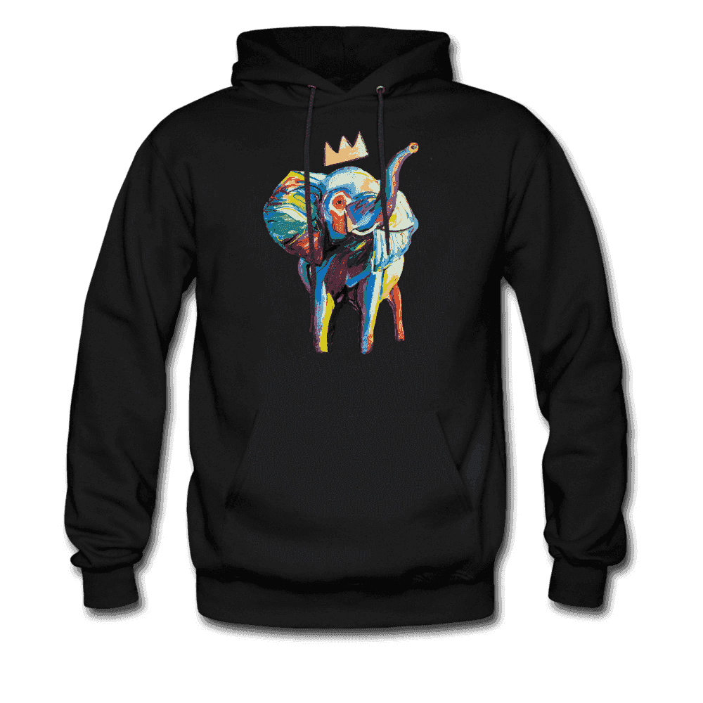 Men's Elephant x Crown Hoodie - black