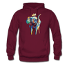 Image of Men's Elephant x Crown Hoodie - burgundy