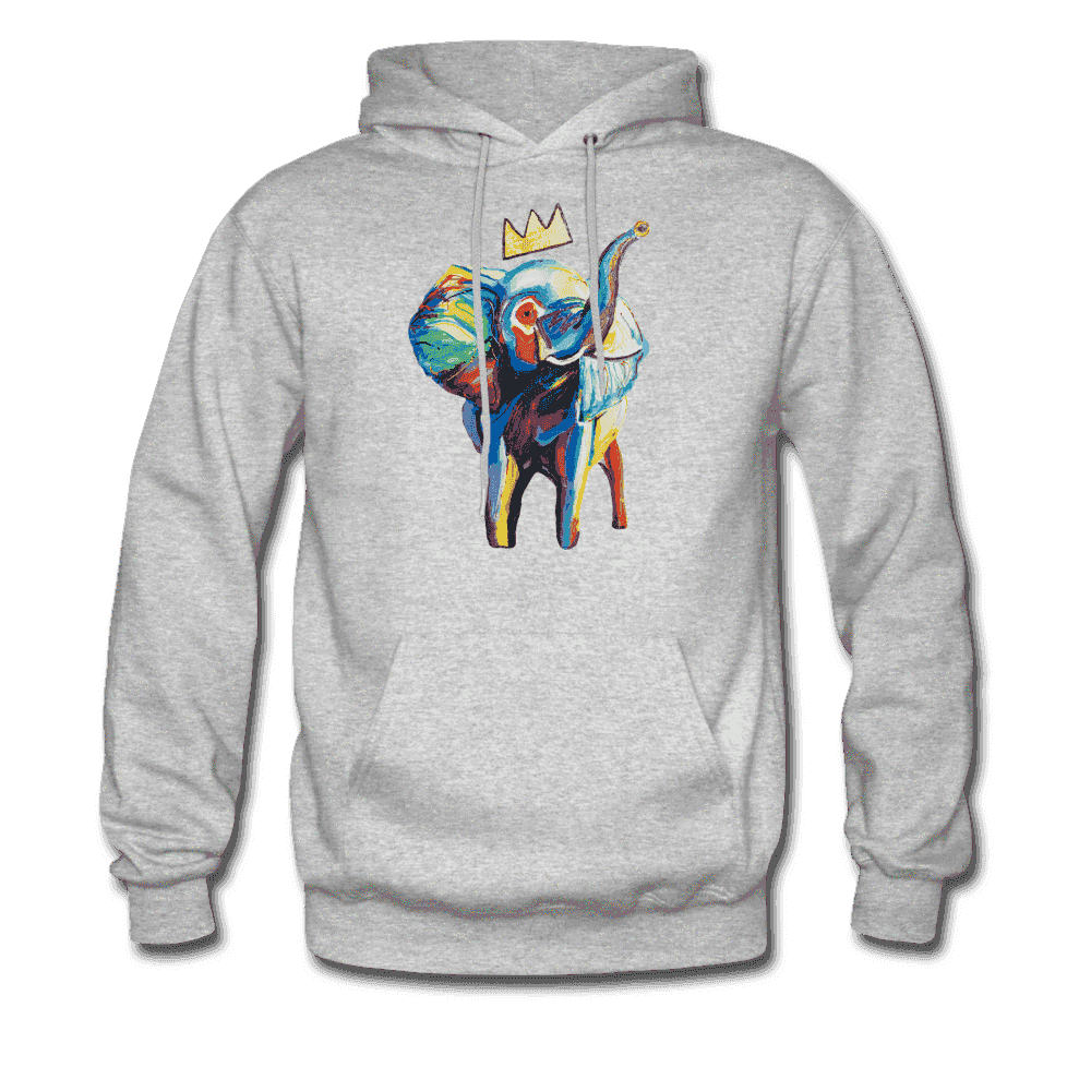 Men's Elephant x Crown Hoodie - heather gray