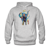 Image of Men's Elephant x Crown Hoodie - heather gray
