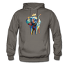 Image of Men's Elephant x Crown Hoodie - asphalt gray