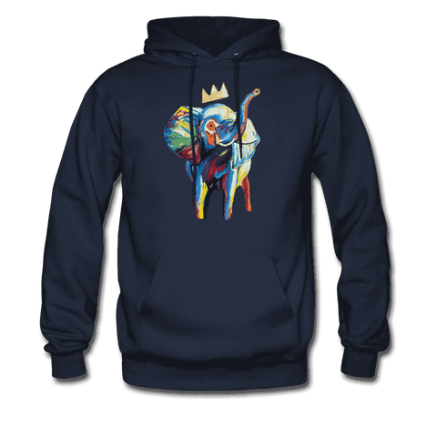 Men's Elephant x Crown Hoodie - navy