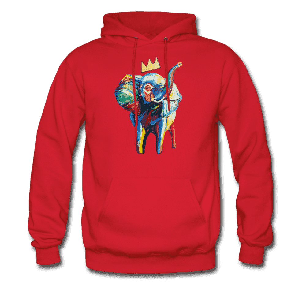 Men's Elephant x Crown Hoodie - red