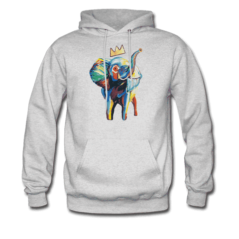 Men's Elephant x Crown Hoodie - ash
