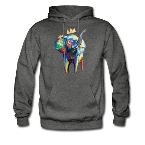 Men's Elephant x Crown Hoodie - charcoal gray