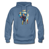 Image of Men's Elephant x Crown Hoodie - denim blue