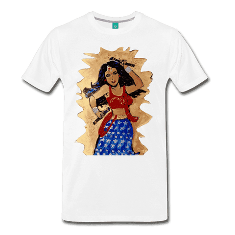 Desi Wonder Women's Men's Tee - white