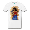 Image of Desi Wonder Women's Men's Tee - white