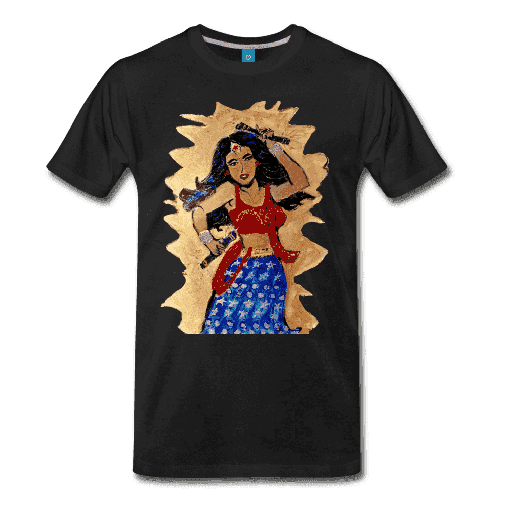 Desi Wonder Women's Men's Tee - black