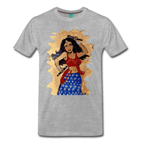 Desi Wonder Women's Men's Tee - heather gray