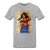 Image of Desi Wonder Women's Men's Tee - heather gray