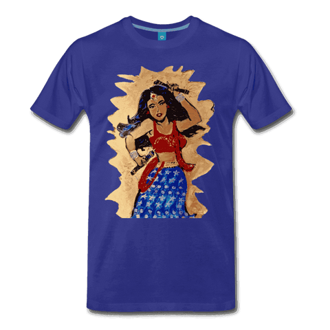 Desi Wonder Women's Men's Tee - royal blue
