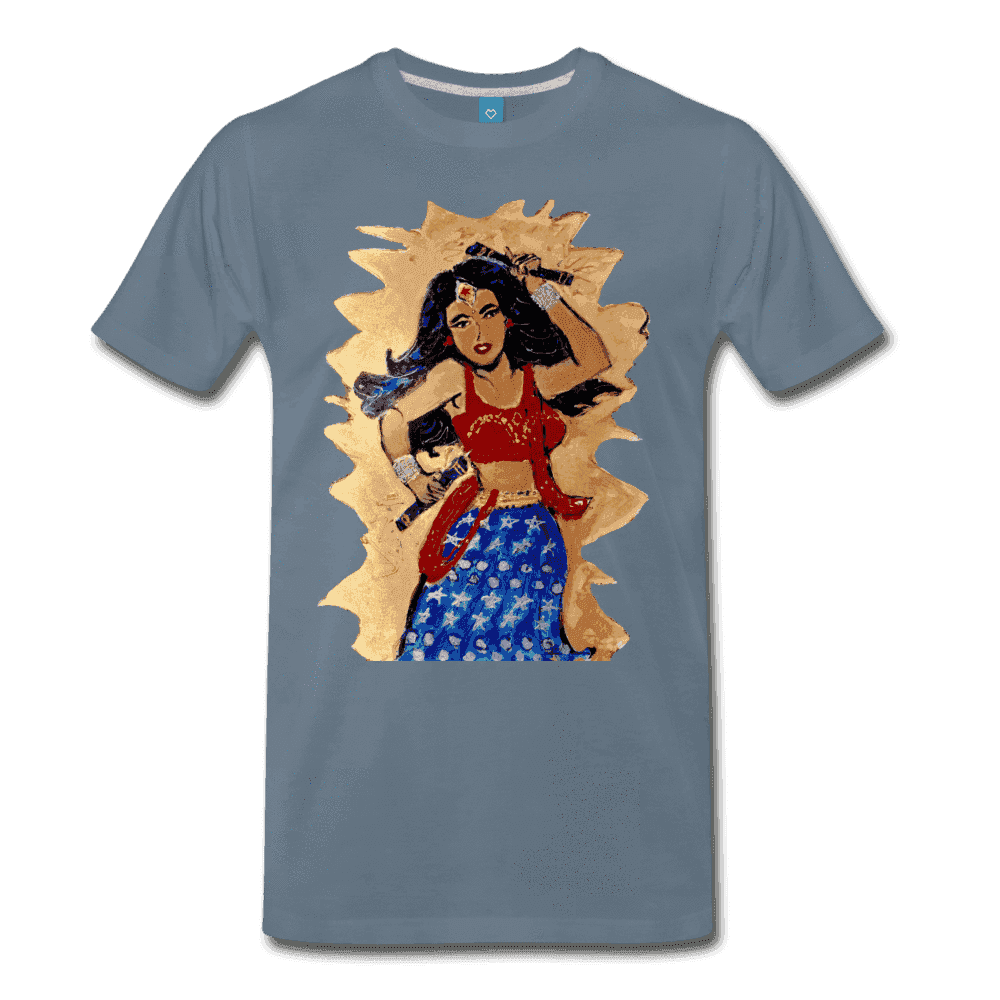 Desi Wonder Women's Men's Tee - steel blue