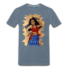 Image of Desi Wonder Women's Men's Tee - steel blue