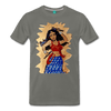 Image of Desi Wonder Women's Men's Tee - asphalt gray