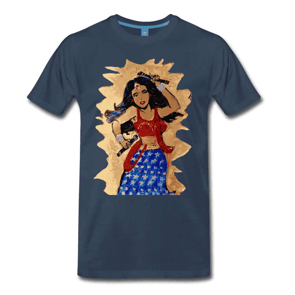 Desi Wonder Women's Men's Tee - navy