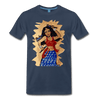 Image of Desi Wonder Women's Men's Tee - navy