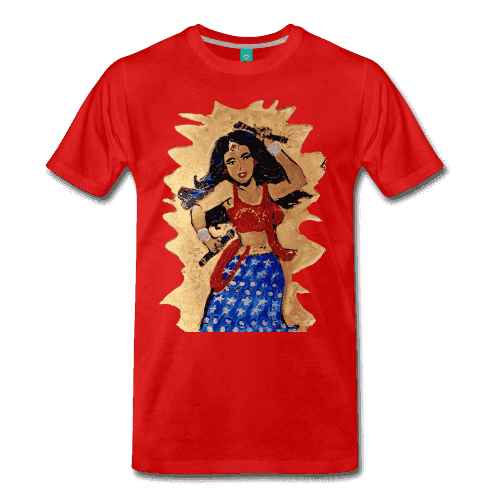 Desi Wonder Women's Men's Tee - red