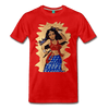 Image of Desi Wonder Women's Men's Tee - red