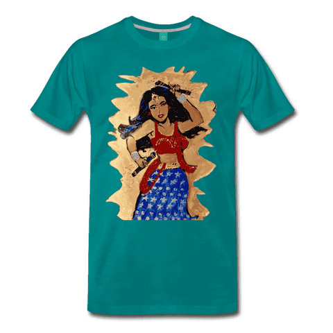 Desi Wonder Women's Men's Tee - teal