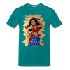 Image of Desi Wonder Women's Men's Tee - teal