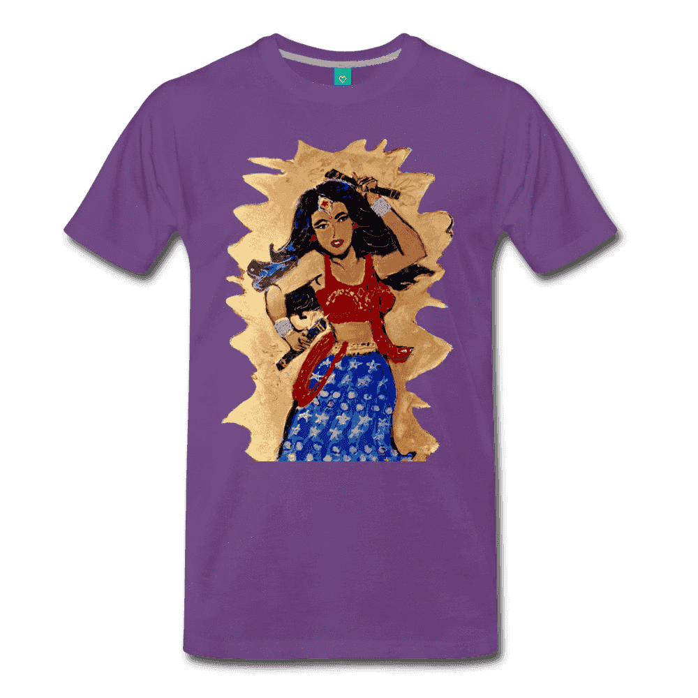 Desi Wonder Women's Men's Tee - purple