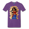 Image of Desi Wonder Women's Men's Tee - purple