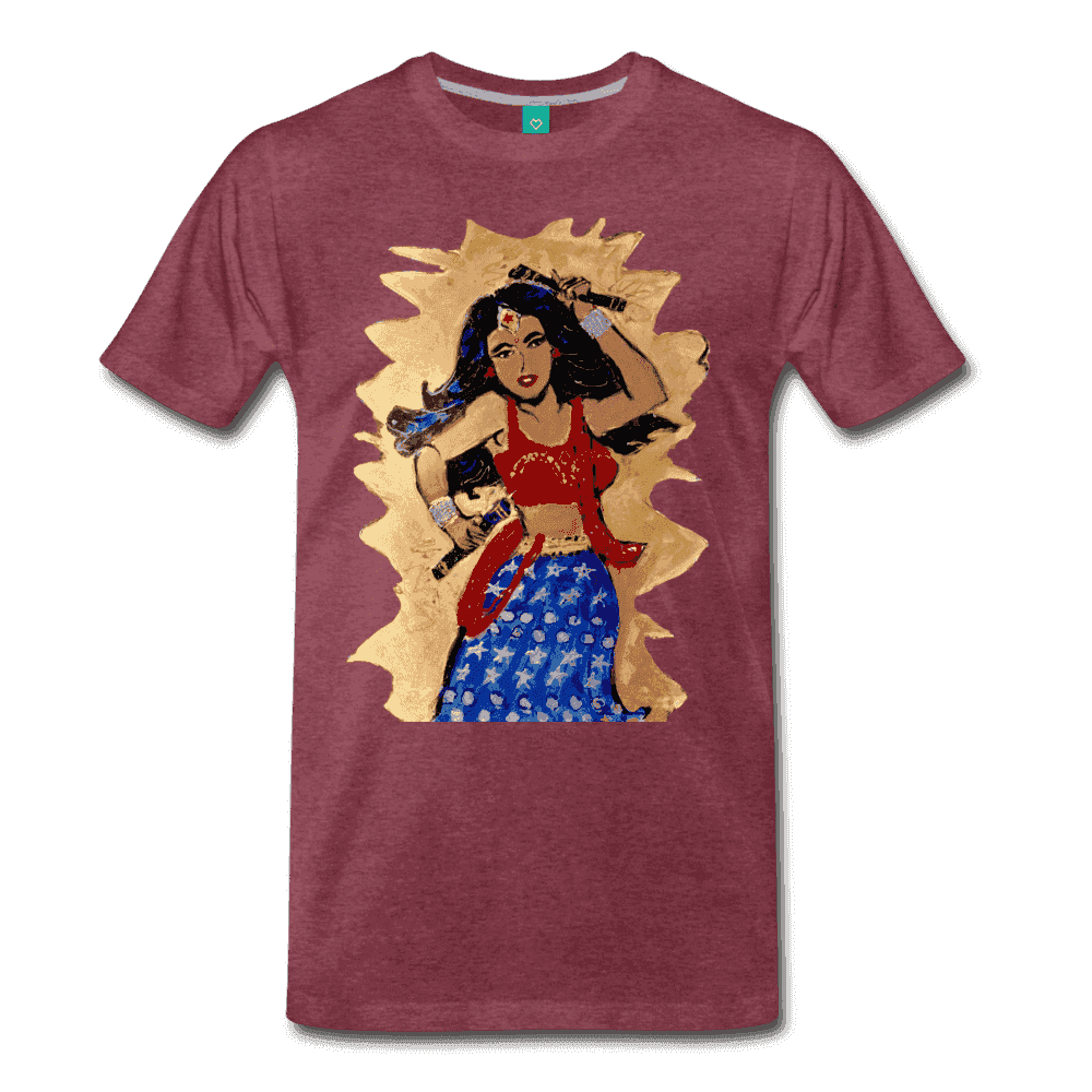 Desi Wonder Women's Men's Tee - heather burgundy