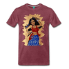 Image of Desi Wonder Women's Men's Tee - heather burgundy
