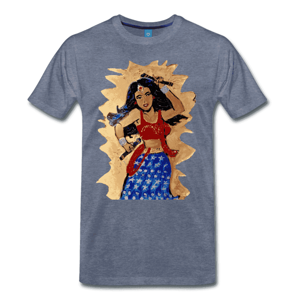Desi Wonder Women's Men's Tee - heather blue