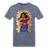 Image of Desi Wonder Women's Men's Tee - heather blue