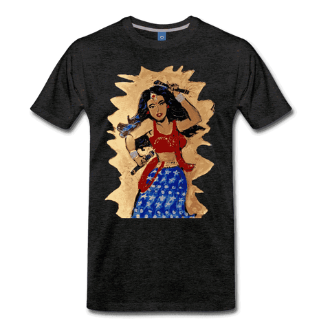 Desi Wonder Women's Men's Tee - charcoal gray