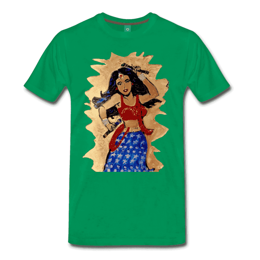 Desi Wonder Women's Men's Tee - kelly green