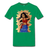 Image of Desi Wonder Women's Men's Tee - kelly green