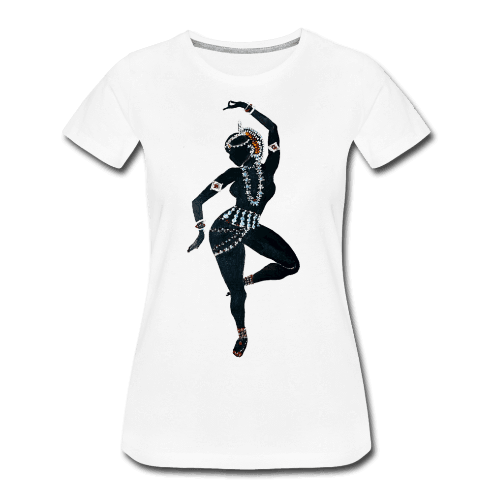 Odissi  Dancer Women's Tee - white