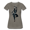 Image of Odissi  Dancer Women's Tee - asphalt gray