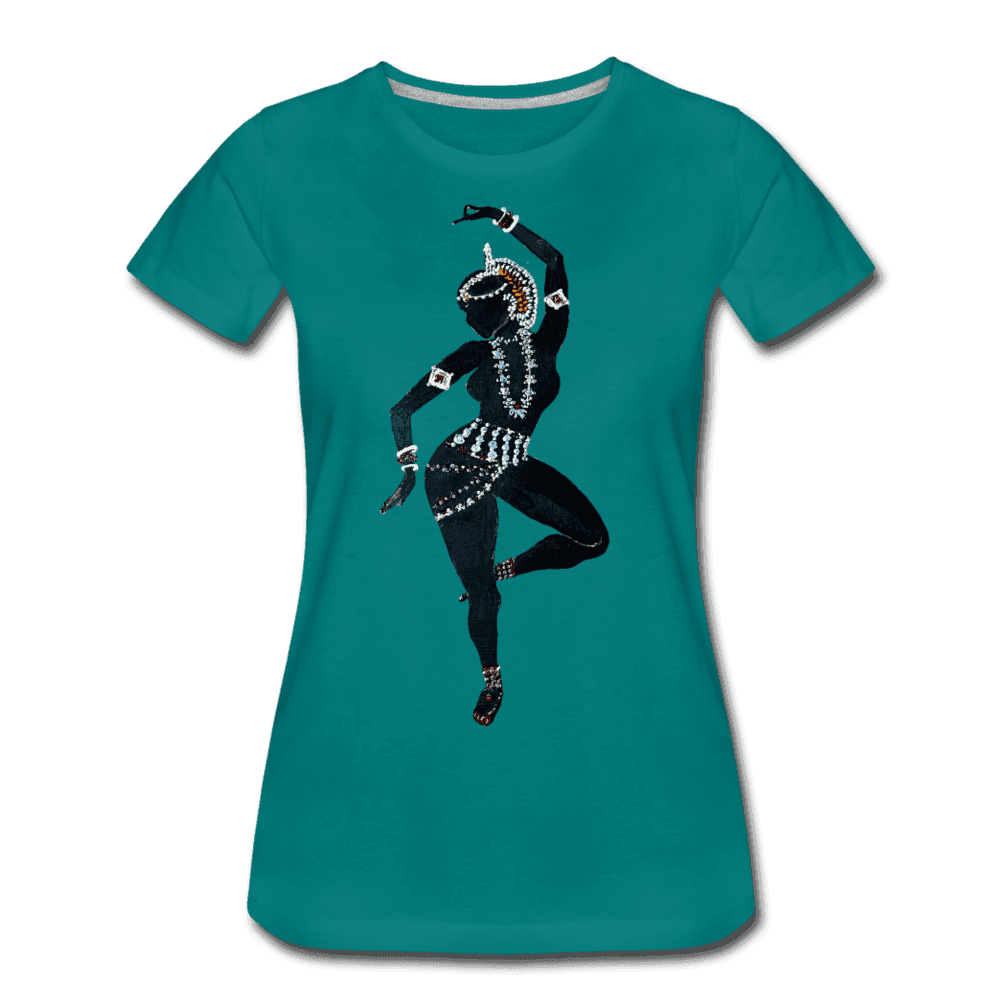 Odissi  Dancer Women's Tee - teal